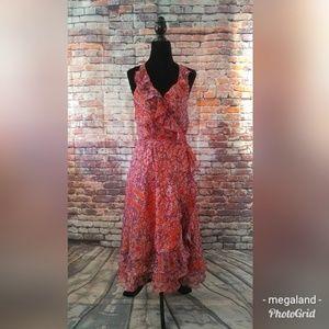 Halter Strap Floral Dress - Medium